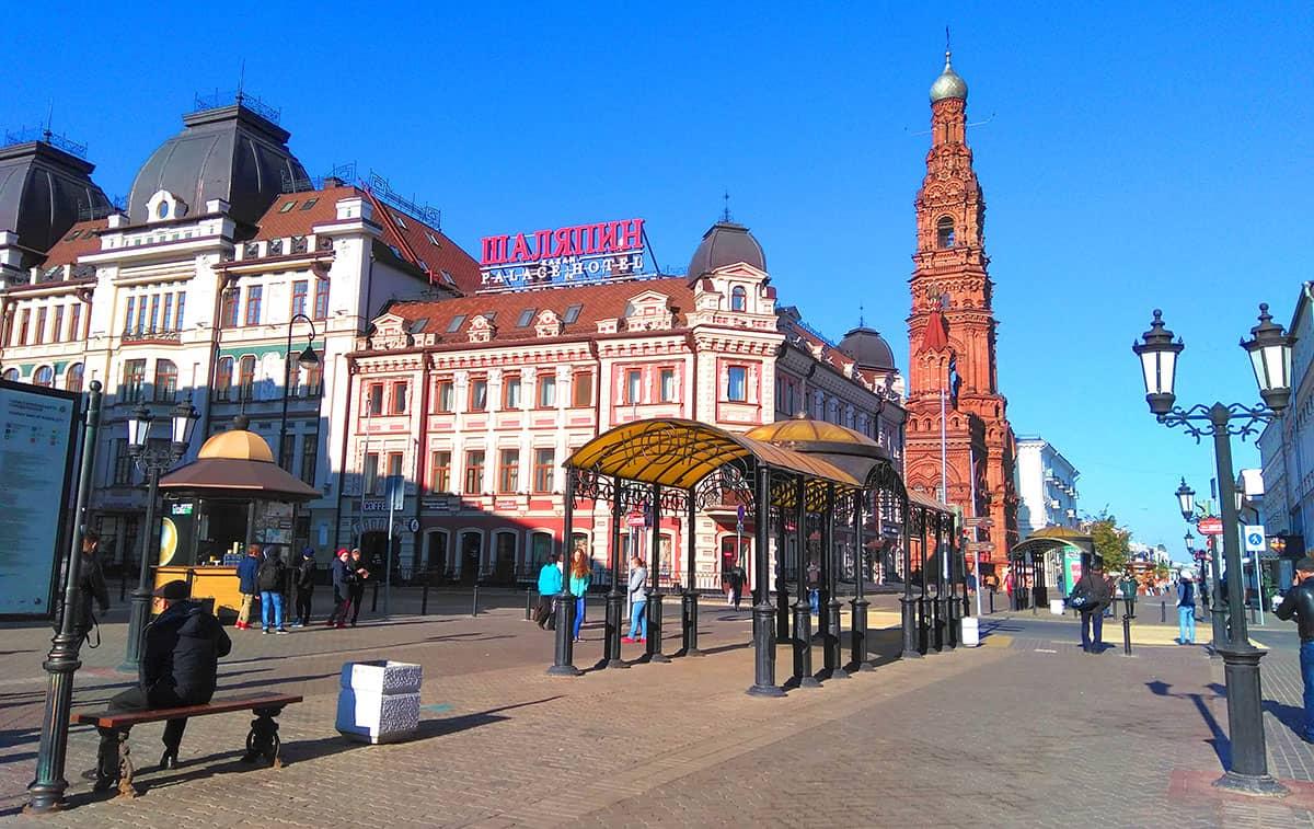 Улица Баумана Казань - пешеходная улица