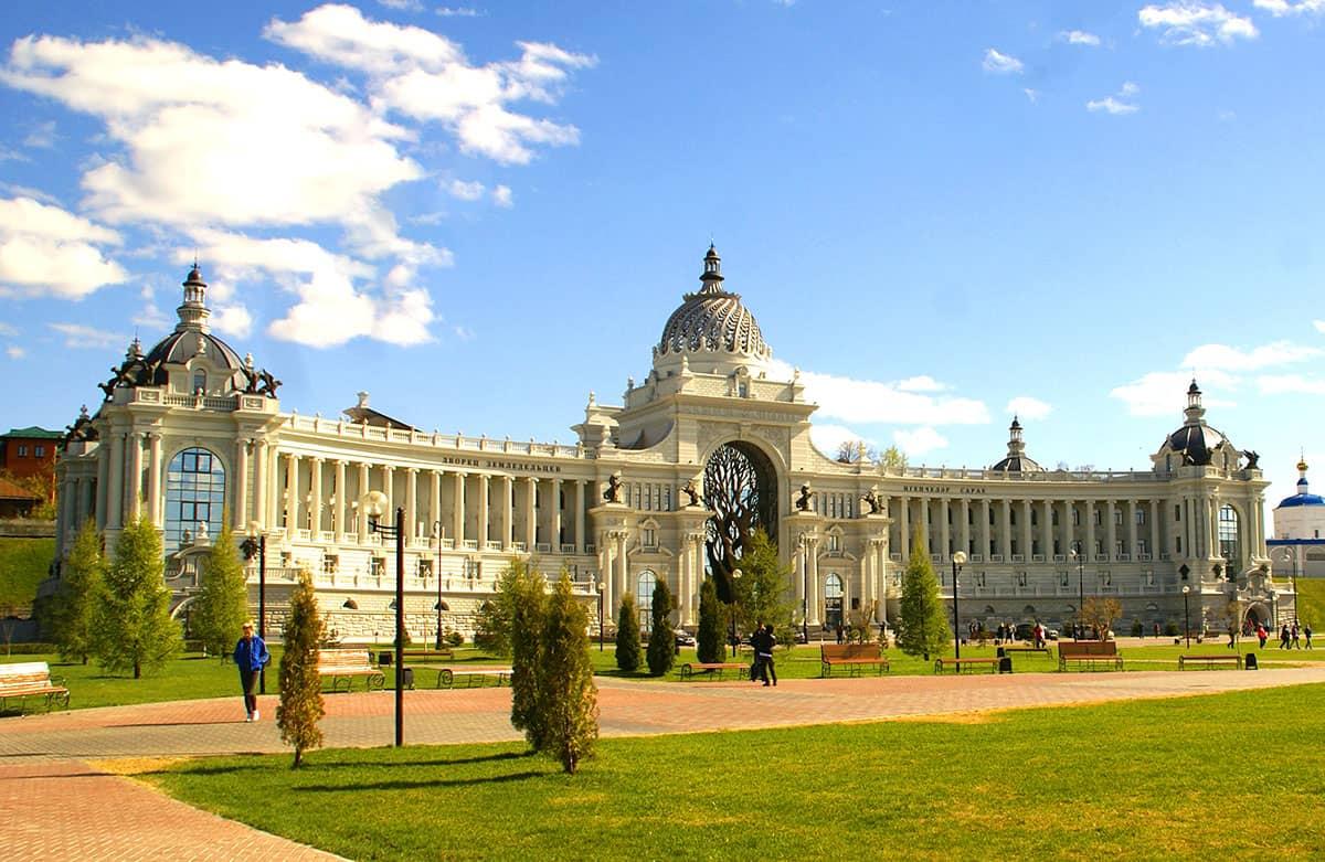 Дворец земледельцев в Казани - величественное здание