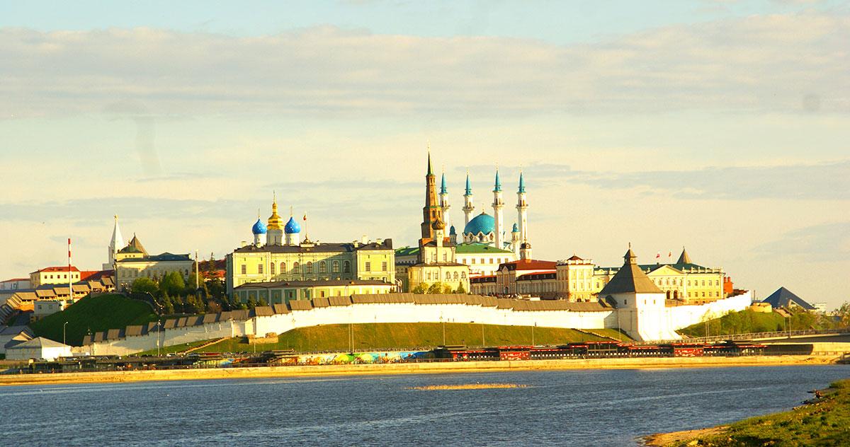 На крыше Центр семьи Казан - смотровая площадка