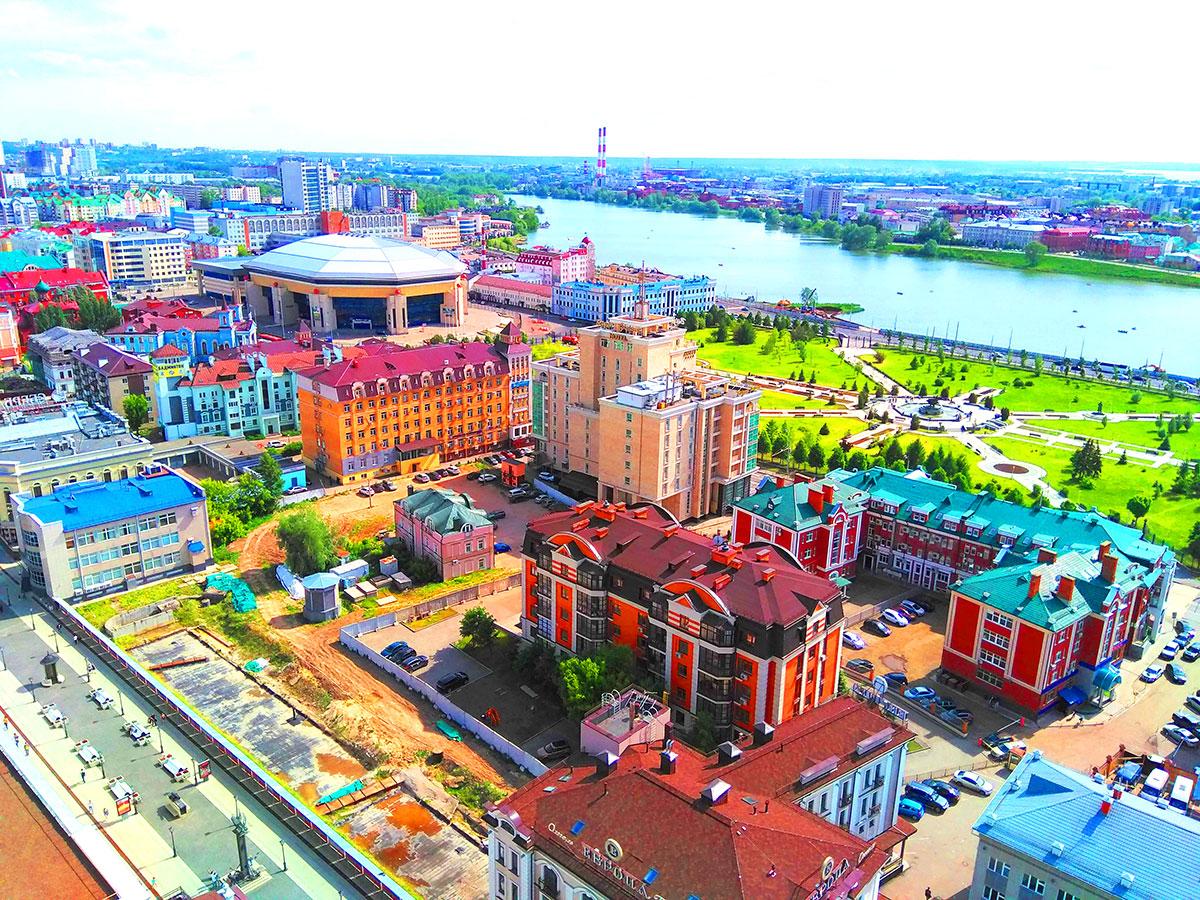 Смотровая площадка Гранд отель - одна из лучших в Казани