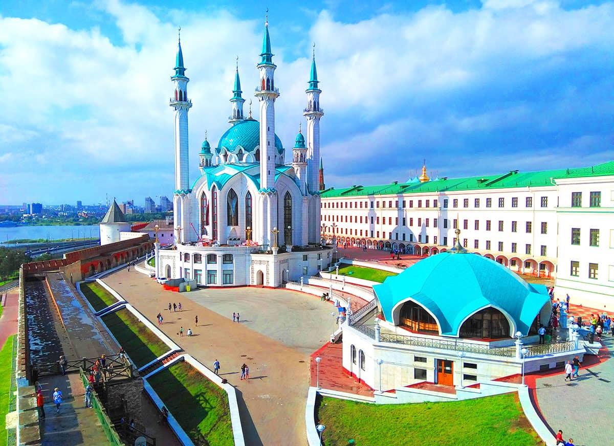 Виды с Преображенской Башни Казанского Кремля