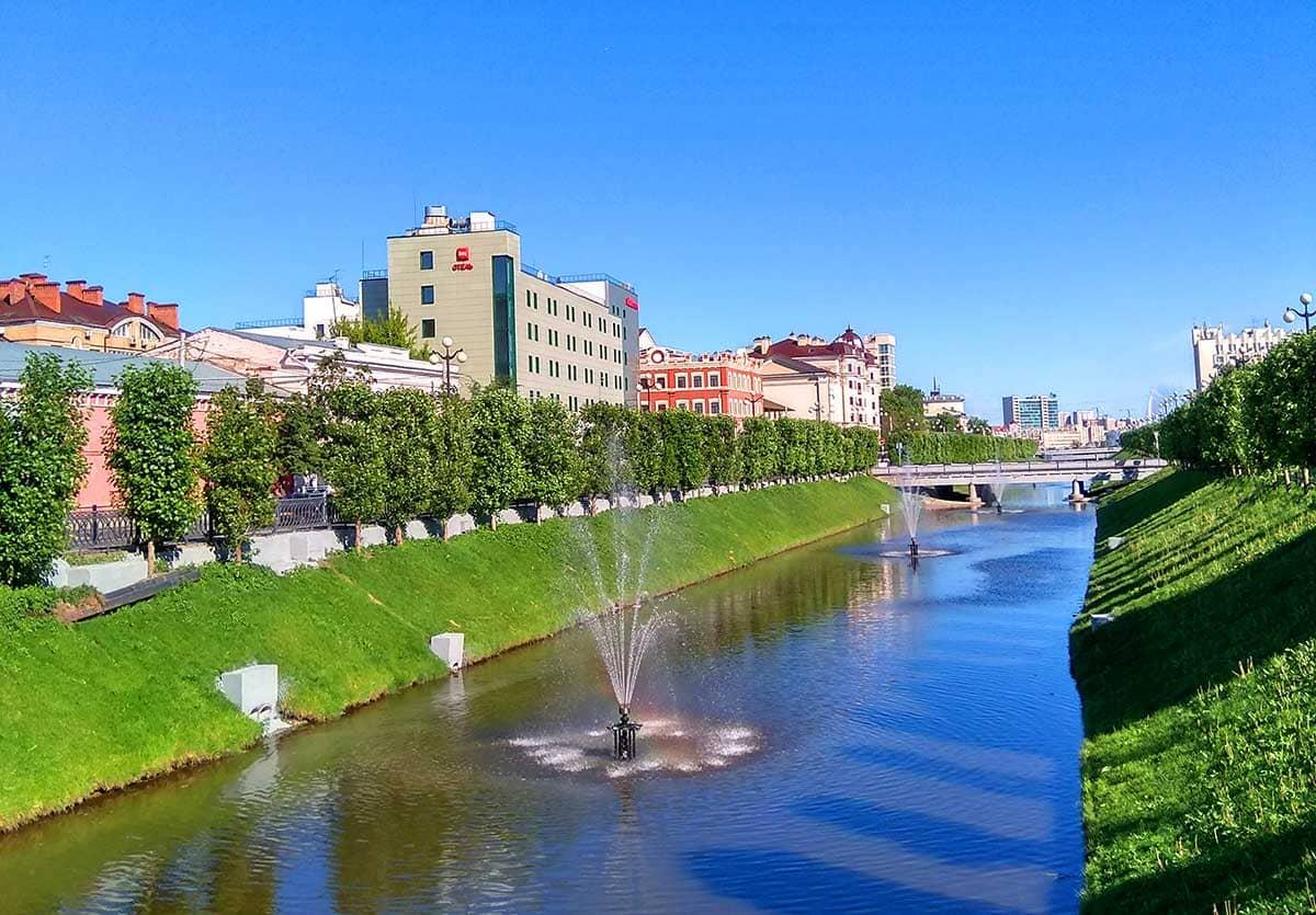 фонтаны на реке булак в казани