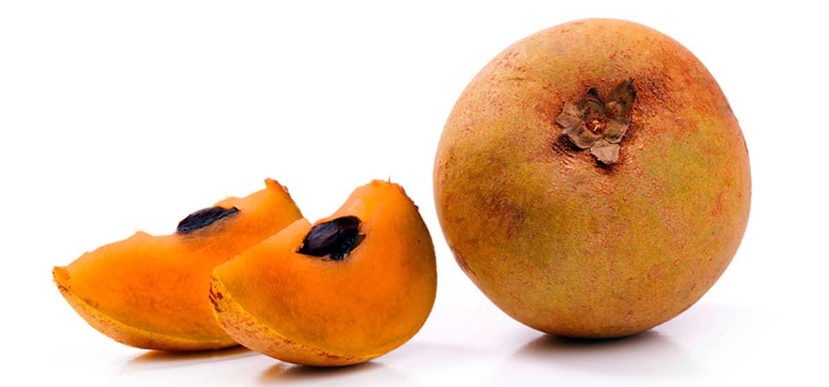 Необычный экзотический саподилла фрукт
