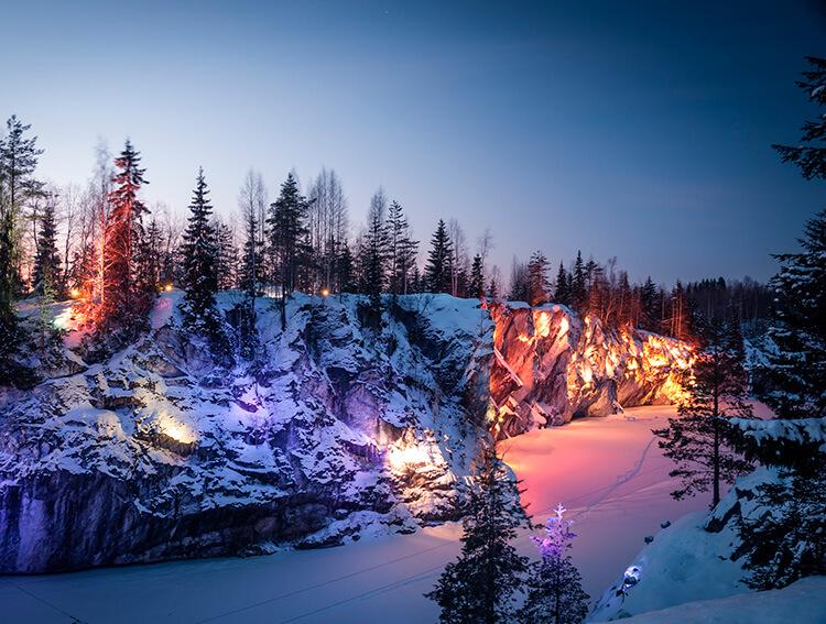путешествие зимой по россии куда поехать